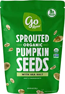 product image for Go Raw Pumpkin Seeds with Sea Salt, Sprouted & Organic, 14 oz. Bag | Keto | Vegan | Gluten Free Snacks | Superfood