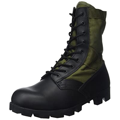 Mil-Tec US Jungle Combat Boots Olive: Sports & Outdoors