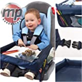 MP Essentials Car Booster Seat, Plane & Buggy Kids Portable Travel Table with Side Pockets