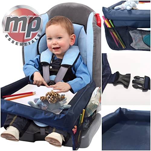 MP Essentials Car Booster Seat Plane Buggy Kids Portable Travel Table With Side Pockets