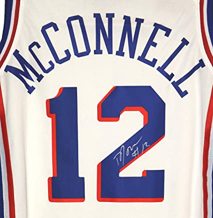 7392efb49 T.J. McConnell Philadelphia 76ers Signed Autographed White  12 Jersey