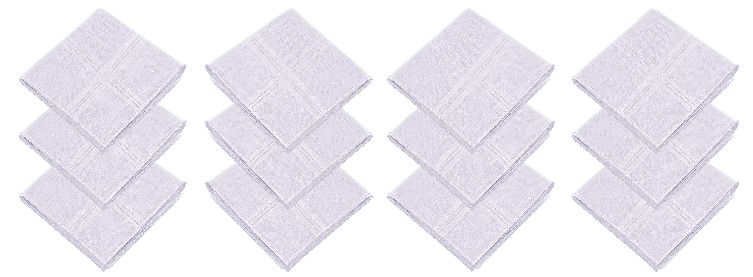 JFL - 100% Pure Cotton Self Design Handkerchiefs for Men & Boys