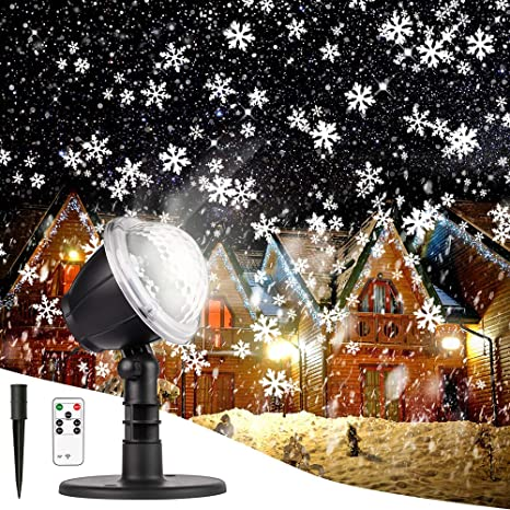 Remote Control Outdoor Christmas Lights.Christmas Projector Lights Outdoor Led Snowflake Christmas Lights With Remote Control Outdoor Landscape Patio Garden Decorative Lighting For