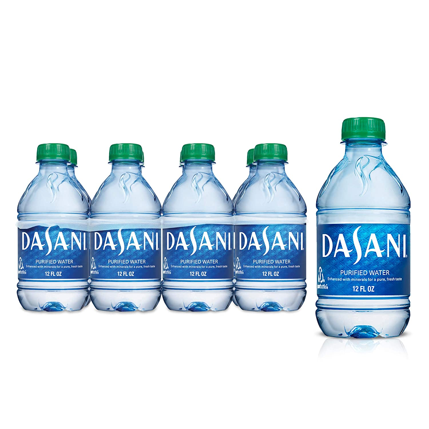 DASANI Purified Water Enhanced with Minerals, 12 fl oz (pack of 8)