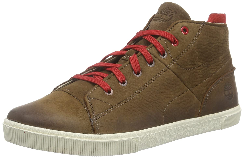 Timberland Slim Cupsole FTK_Slim Cupsole Boys Hookset Camp Chukka, Sneaker Alta Ragazzo, Marrone (Marrone), 34