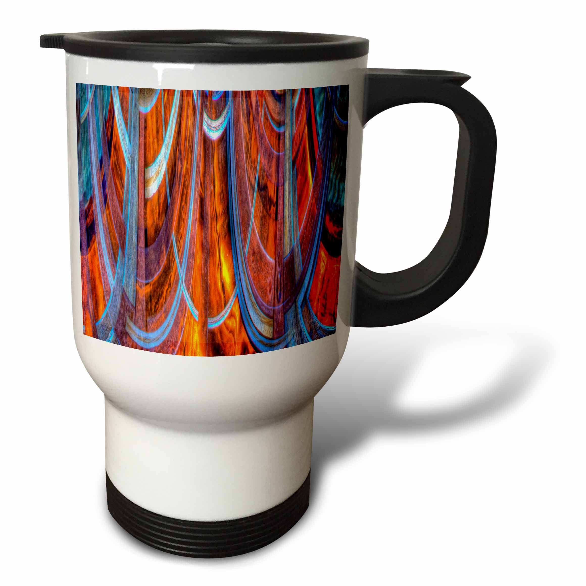 3dRose Danita Delimont - Abstracts - USA, California, Bodie State Park. Abstract of window. - 14oz Stainless Steel Travel Mug (tm_278533_1)