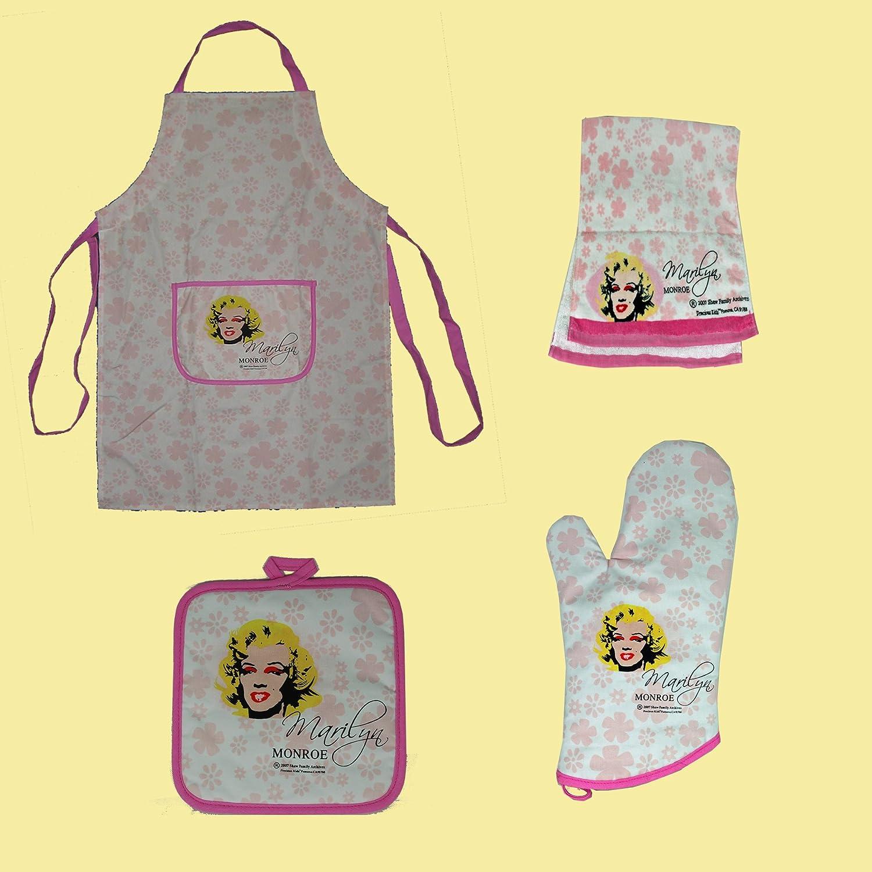 Nice Amazon.com: Marilyn Monroe 4 Pcs Kitchen Linens Set, Apron , Pot Holder,  Towel, Oven Mitt: Home U0026 Kitchen