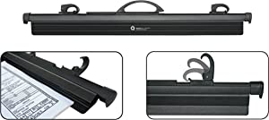 """Hang-A-Plan, 24""""- 30"""" Quickfile Hanging Clamp, Black, Holds up to 150 Plans, Single Clamp"""