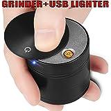 "D&J GRINDERS LITGHERS Best Spice Herb grinder utility patent pending size- 2"" X 2"" black 4 parts"