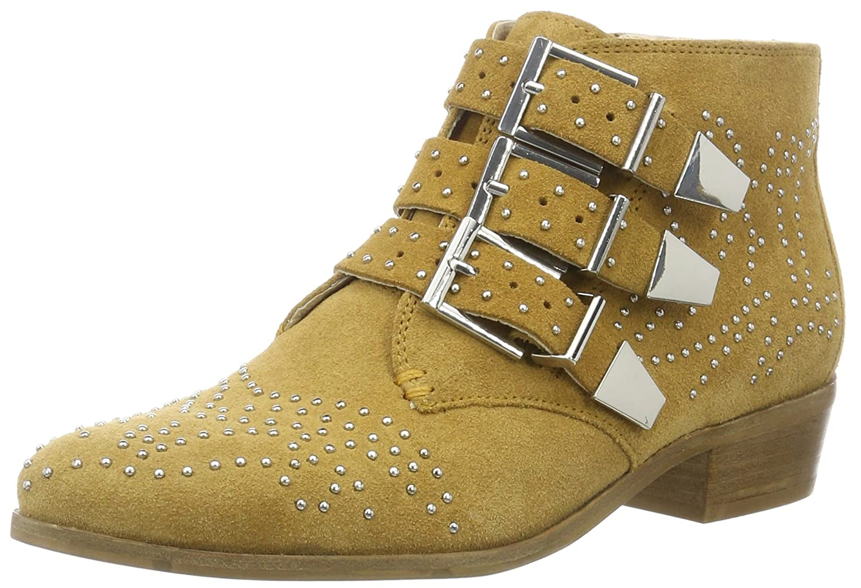 Bronx Damen Reza Biker Boots, Weiß (Off White), 37 EU