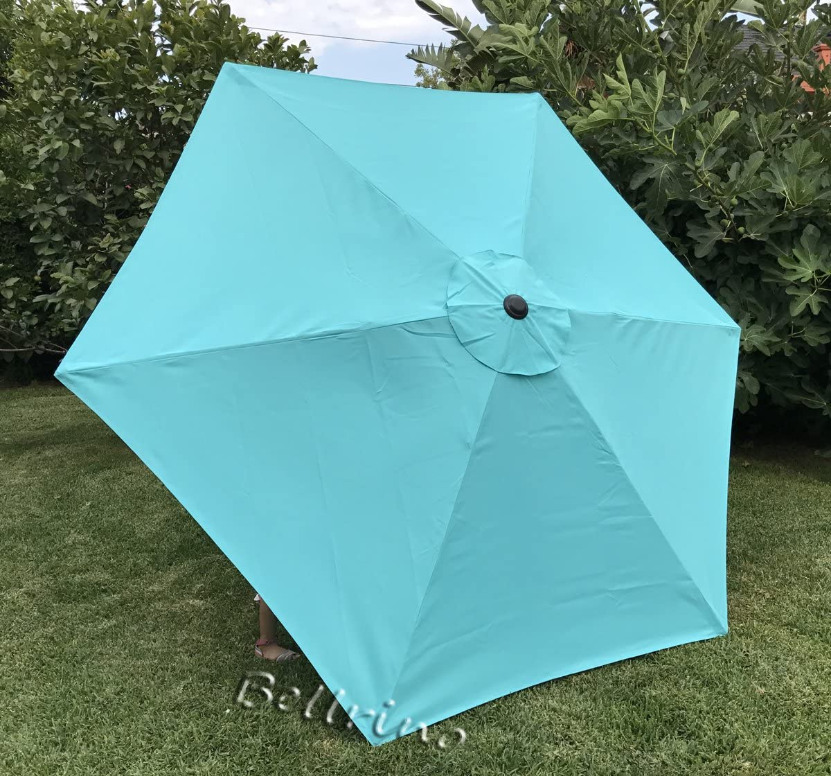 BELLRINO Replacement Peacock Blue Umbrella Canopy for 9 ft 6 Ribs (Canopy Only) (Peacock BLUE-96)
