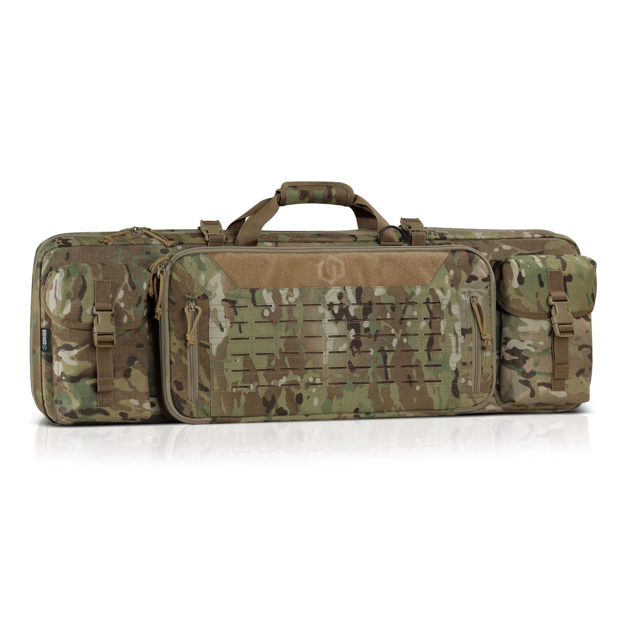 Savior Equipment 36'' Urban Warfare Multicam Original Tactical Double Carbine Long Rifle Bag Firearm Gun Case w/Removable Backpack Strap - 1000D Cordura Nylon Fabric, UTX Buckles, YKK Zippers by Savior Equipment