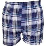 Mens Woven Check Boxer Assorted 6 Pack L