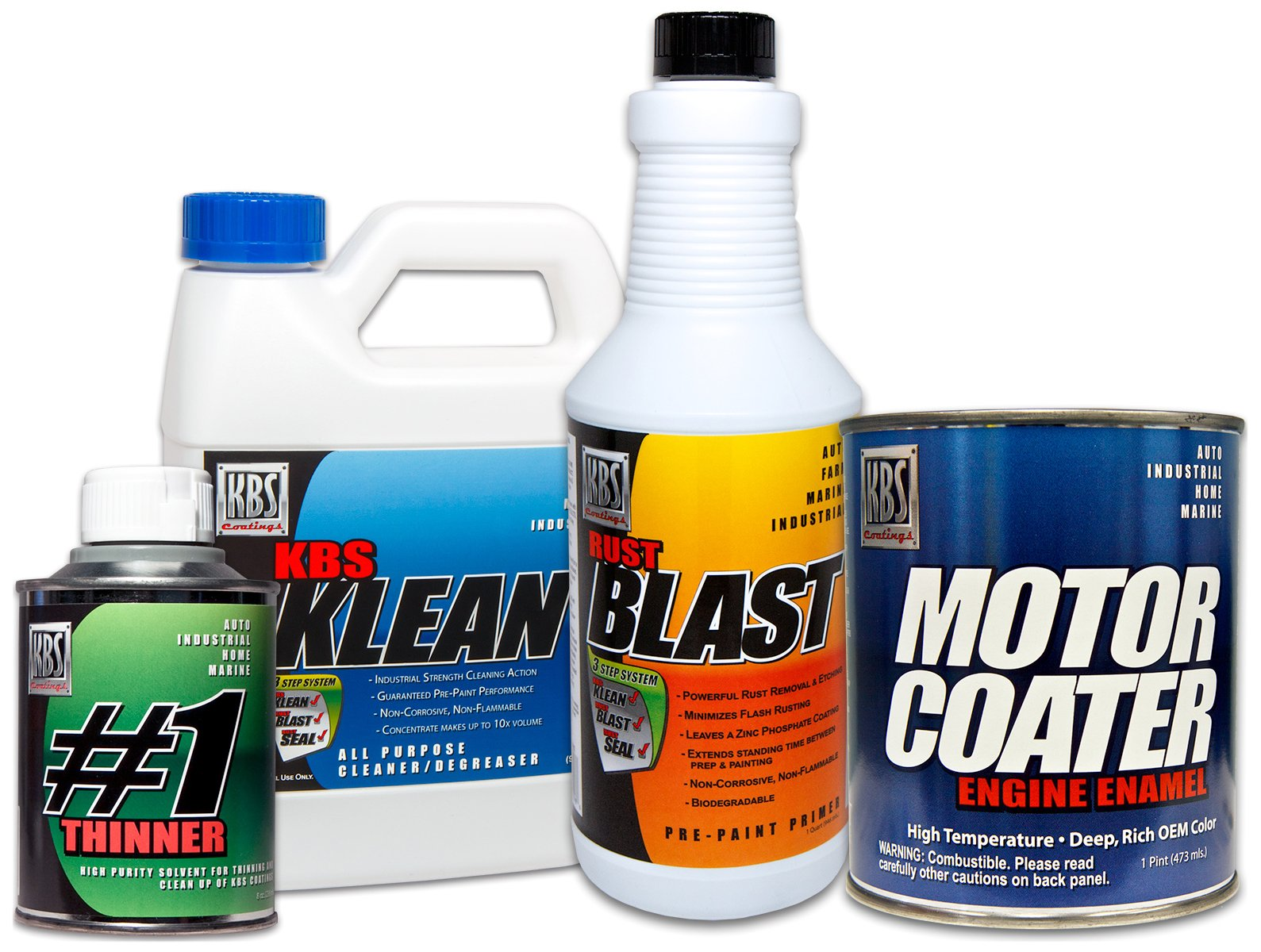 KBS Coatings 58020 Pontiac Light Blue Motor Coater Engine Paint Kit