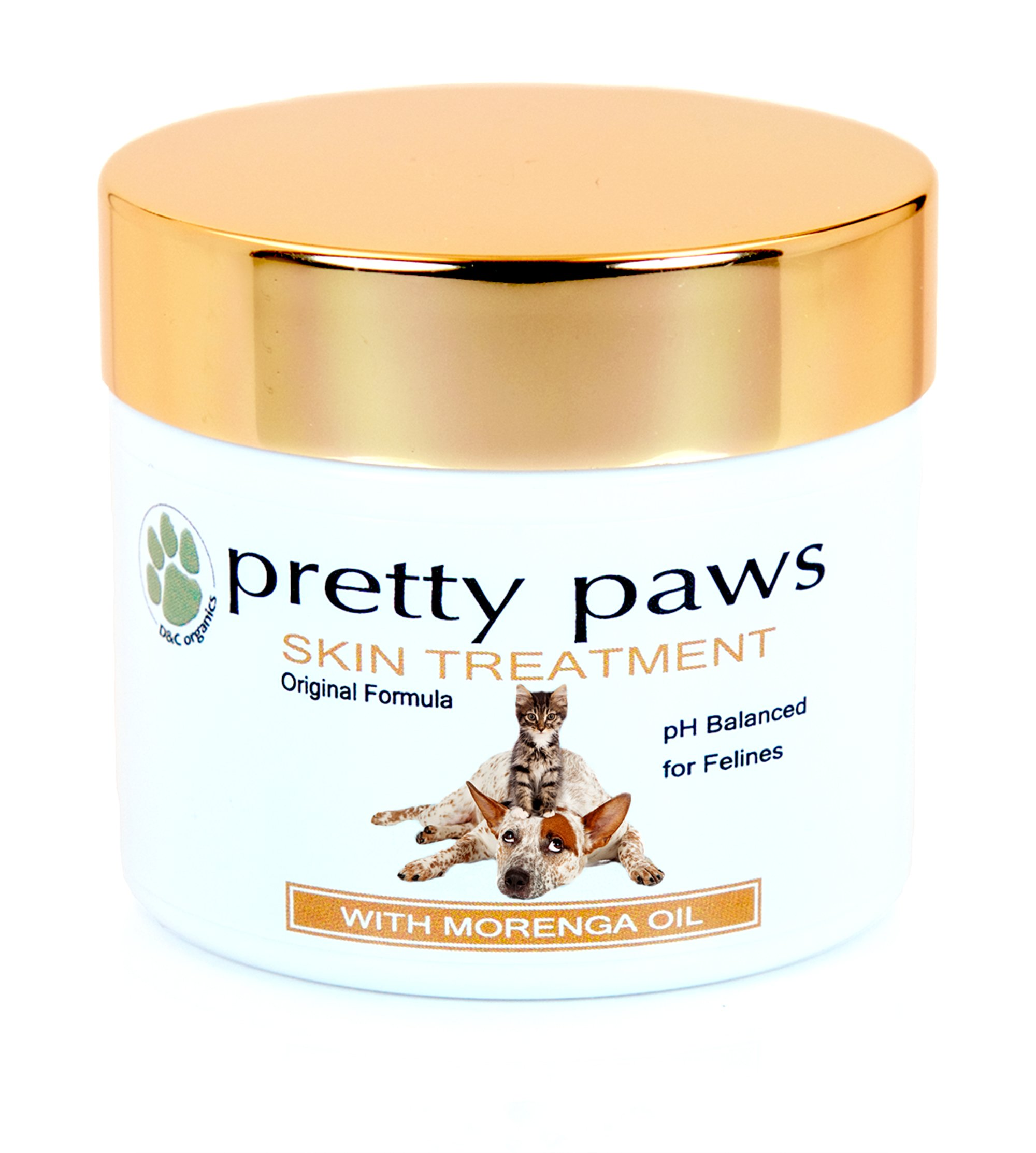 Cat Hot Spot Treatment. Pain Relief for Paw Disorders, Dermatitis, Infection, Dry Itchy Skin, Rashes, Bites, Allergic Reactions. Antiseptic Antifungal Holistic Vet Approved - Concentrated Pretty Paws by D&C Organics