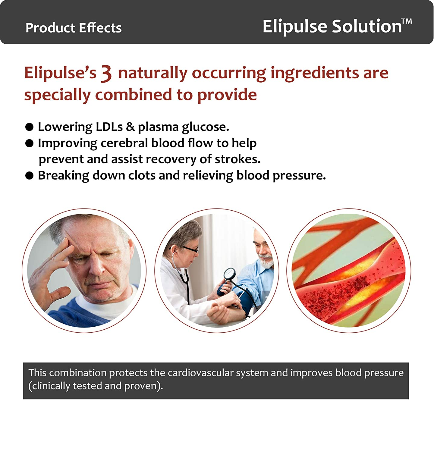 Elipulse Capsules® - Plant Based Blood Pressure Supplement, Cleans  Arteries, Prevents Cardiovascular Events, Heart Supplement, Controls Blood  Sugar