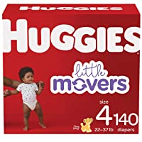 Baby Diapers Size 4, 140 Ct, Huggies Little Movers