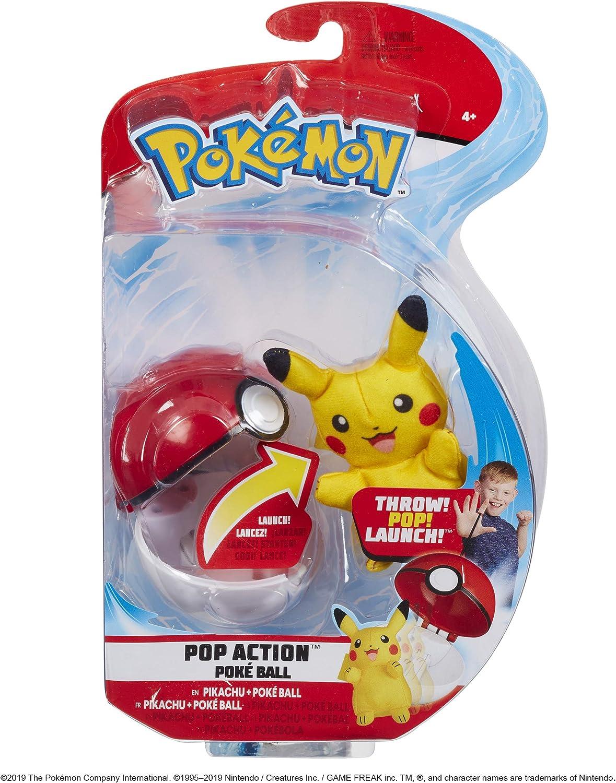 Pokémon 95081 Pokémon Pop Action - Bola de Pokemon, Multicolor