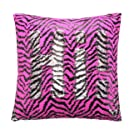 ANKIT Mermaid Pillow Reversible Sequin Pillow That Changes Color - Pink Zebra