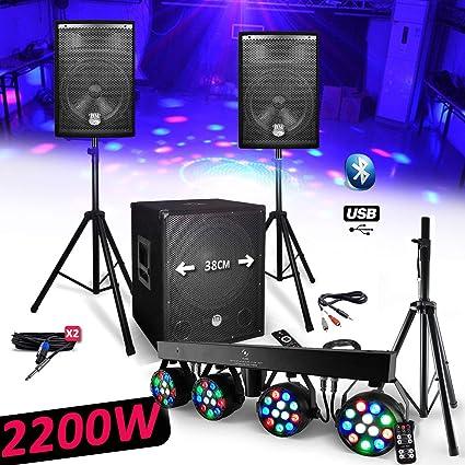 Sistema Pack sono DJ 2200 W bms1512 Sonic altavoces + Subwoofer ...