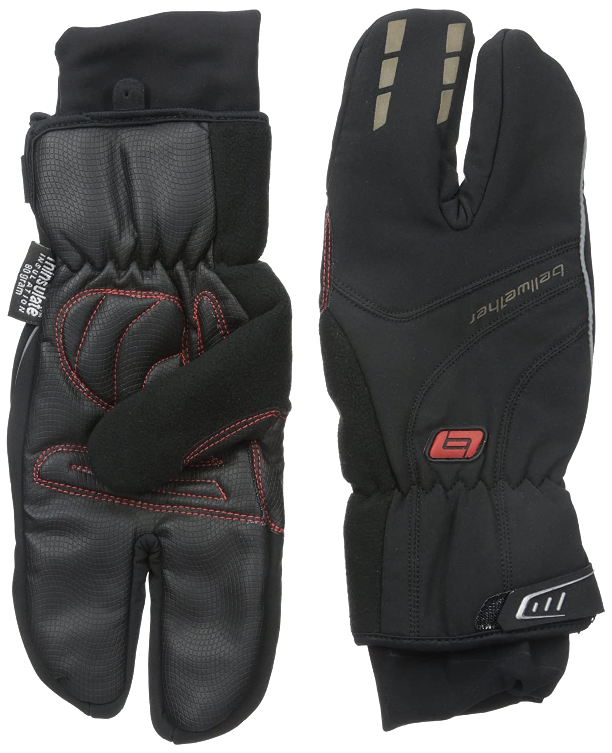 Bellwether Men's Coldfront Split Finger Gloves Bellwether Cycling Clothing