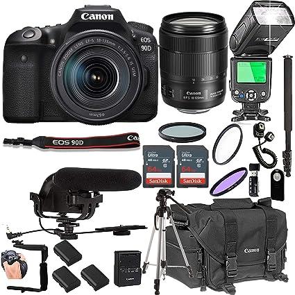 Amazon.com: Canon EOS 90D con 0.709-5.315 in f/3.5-5.6 es ...