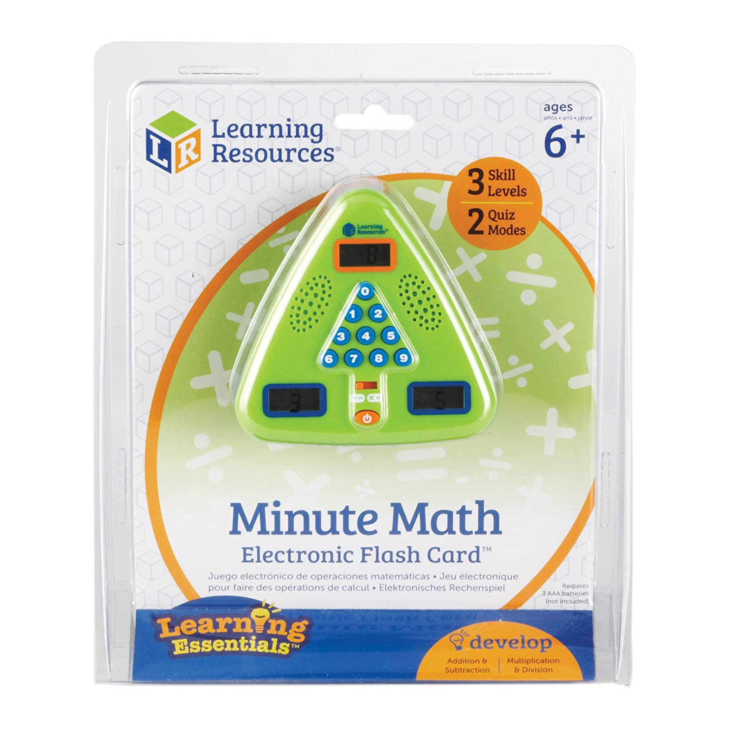 Amazon.com: Learning Resources Minute Math Electronic Flash Card ...