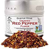 Crushed Red Pepper Flakes - Non GMO Verified - Magnetic Tin - Small Batch - Artisanal Seasoning - Gourmet Spice - 1.2 Ounce