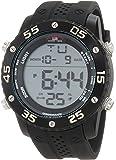 U.S. Polo Assn. Sport Men's US9225 Black Silicone Digital Watch