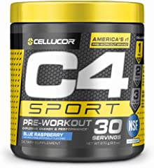 C4 Sport Pre Workout Powder Blue Raspberry - NSF Certified for Sport + Preworkout Energy Supplement for Men & Women - 135mg C