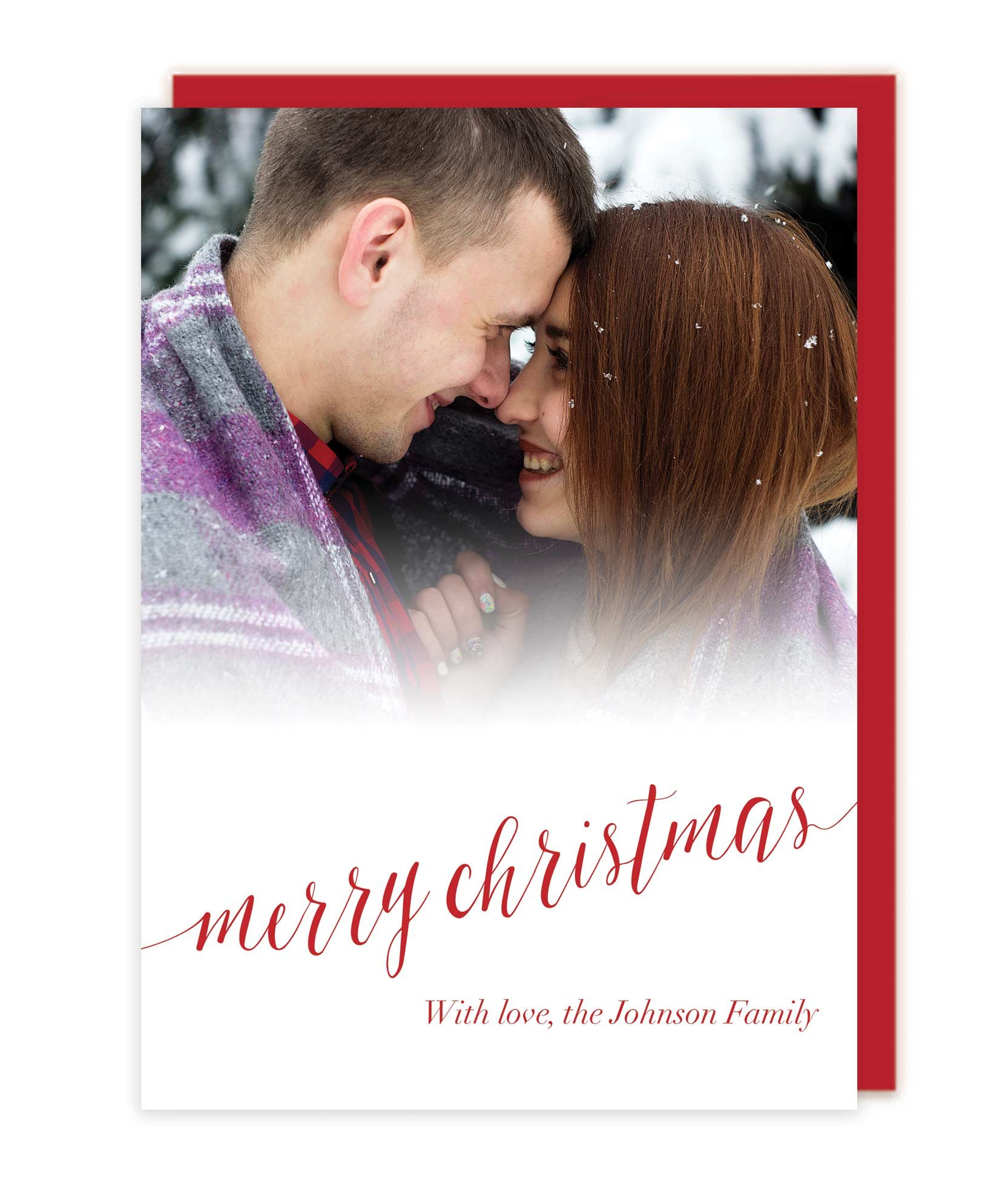 Photo Letterpress Christmas Cards - Merry Christmas