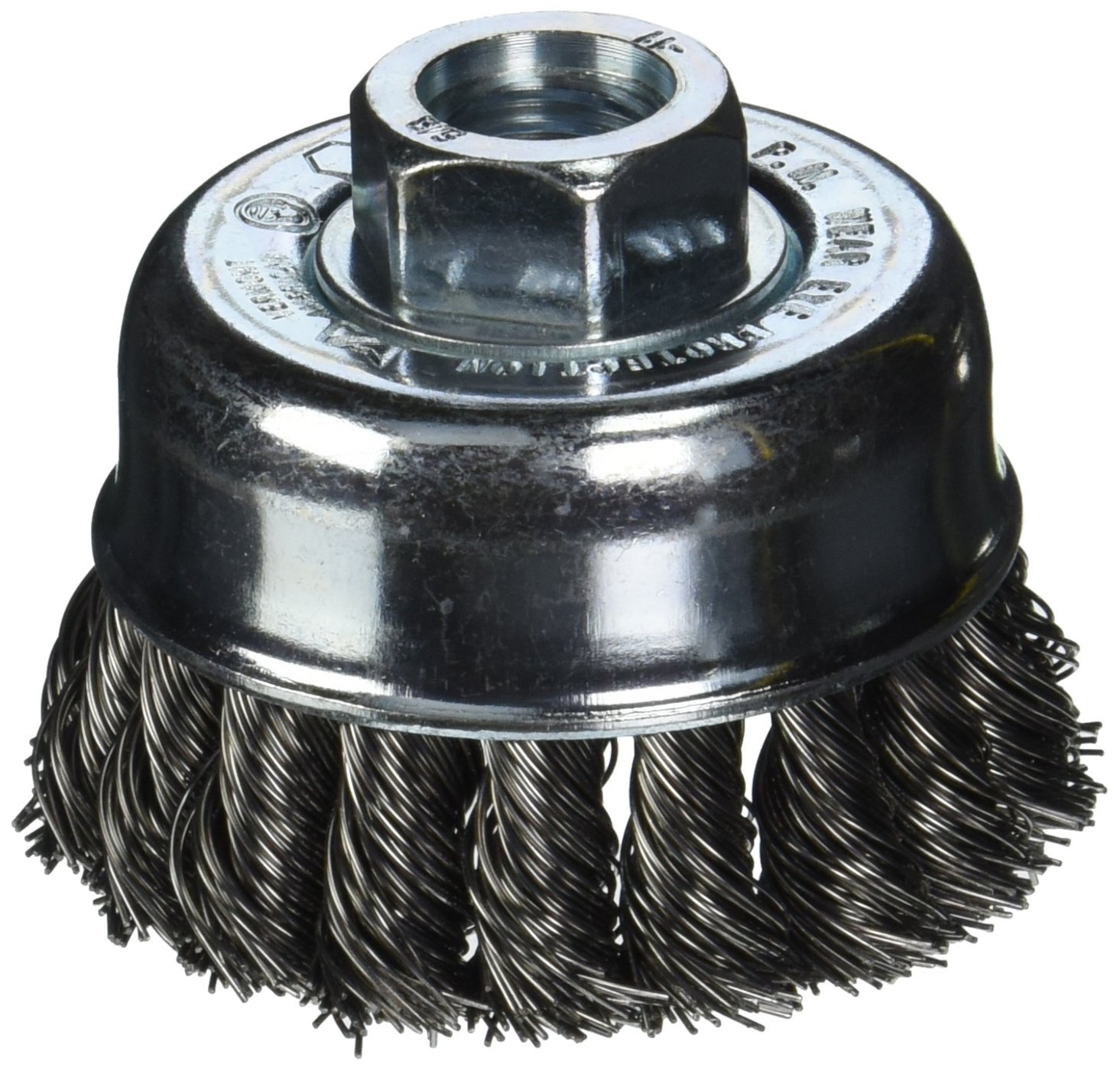 Vermont American 16830 3-Inch Knotted Wire Cup Brush with 5//8-Inch Arbor