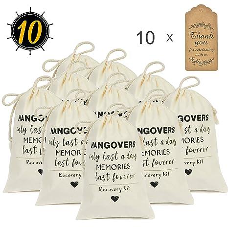 Amazon.com: DÉCOCO - Juego de 10 bolsas de regalo para boda ...