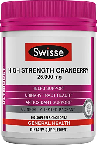 Swisse Ultiboost High Strength Cranberry Supplement Urinary Tract Health Support 25