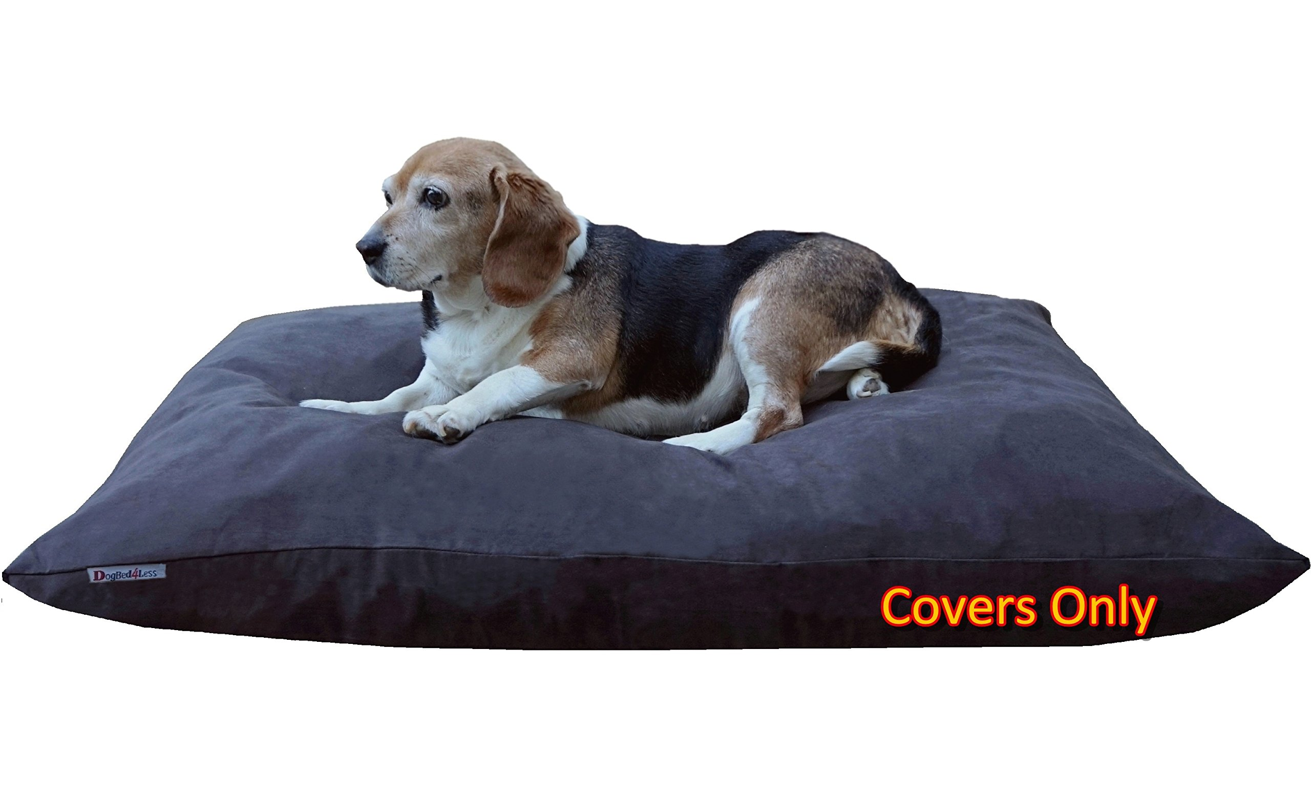 Do It Yourself DIY Pet Bed Pillow Duvet Suede Cover + Waterproof Internal case for Dog/Cat at Medium 36''X29'' Espresso Color - Covers only