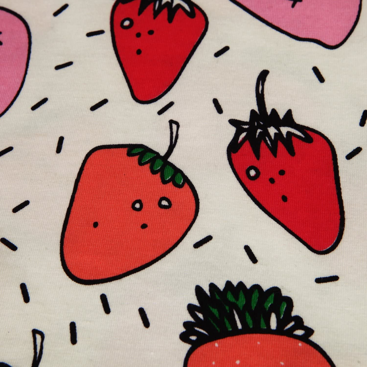 Chen Summer Baby Fruit Printed Cotton Tank Tops Tee Shirts