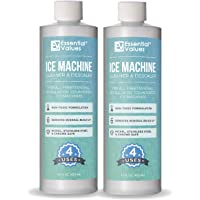 2-Pack Essential Values Ice Machine Cleaner 16 fl oz, Nickel Safe Descaler | Ice Maker Cleaner Compatible with All Major…