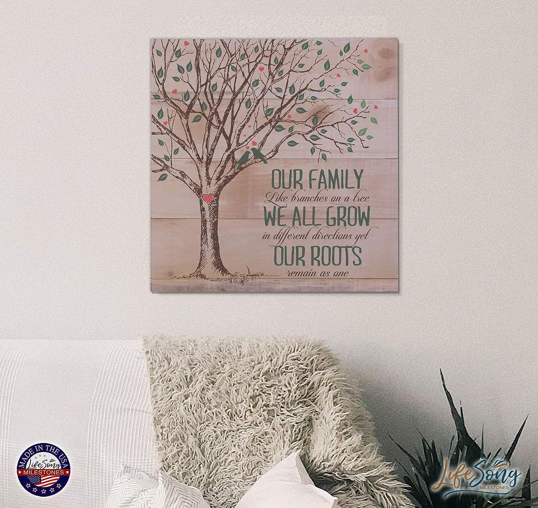 Amazon.com: Nuestra Familia como ramas en un árbol palé ...