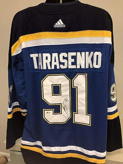 online store e7e92 39640 Vladimir Tarasenko Autographed Jersey - Beckett Bas 2 ...