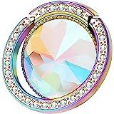 lenoup Iridescent Glitter Bling Bling Phone Ring Holder,Sparkle Phone Ring Artificial Diamond Stand,Rhinestone Cell…