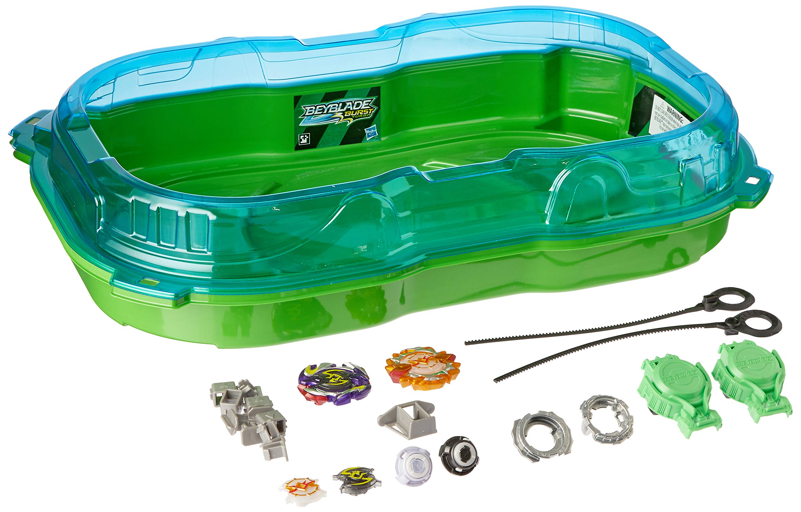 BEYBLADE Burst Turbo Slingshock Cross Collision Battle Set -- Complete Set with Burst Beystadium, Battling Tops, & Launchers -- Age 8+ by BEYBLADE