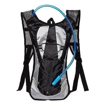 Juvale Mochila de hidratación con Bolsa de Agua de 2 litros, Ideal para Ciclismo,