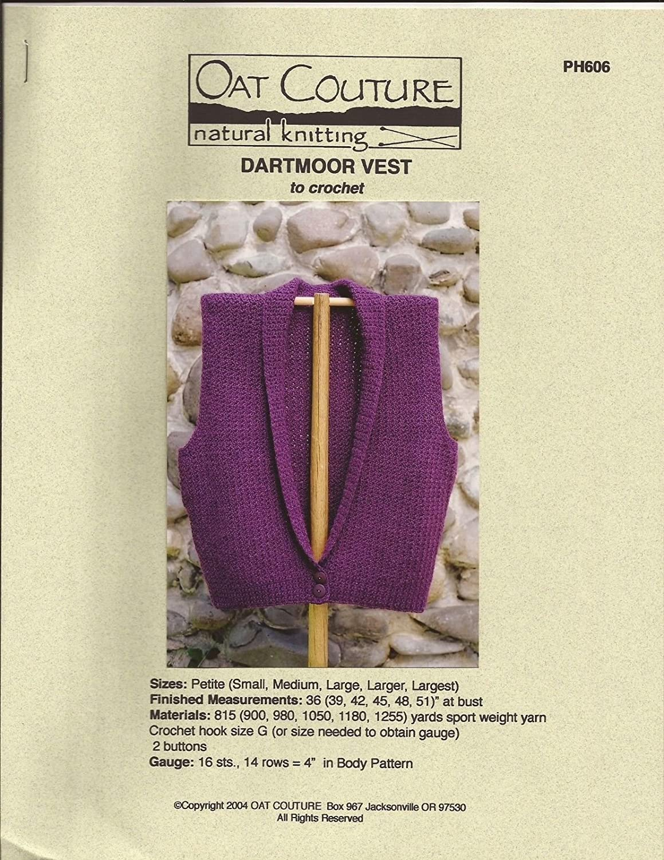 b39ccbd511d7b ... Oat Couture Crochet Pattern PH606 Dartmoor Vest 6 sizes (Pattern Only)