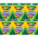 Crayola Kid's First Large Washable Crayons, 8 Count (Pack of 6)