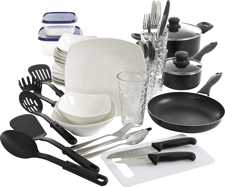Gibson Zen Buffet All U Need Dinnerware Set, White