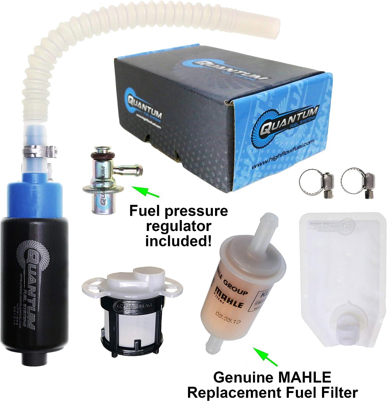 Filter /& Kit 500 EXC XC-W Freeride 350 2008-2019 350 SX-F XC-F XCF-W 450 HFP-389-U2R2F Motorcycle Fuel Pump with Pressure Regulator EXC-F SX-F XC-F XC-W EXC replacement for KTM 250 SX-F XC-F XCF-W
