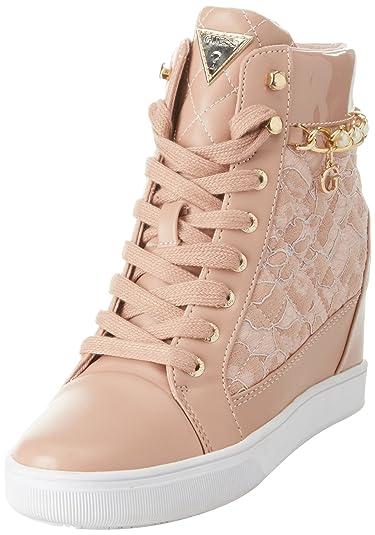 Womens Chaussures Dame Actif Formateurs Salut-top, Devinez Bianco