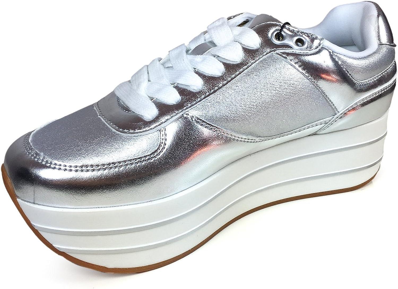 Silver Platform Sneakers 2740/201