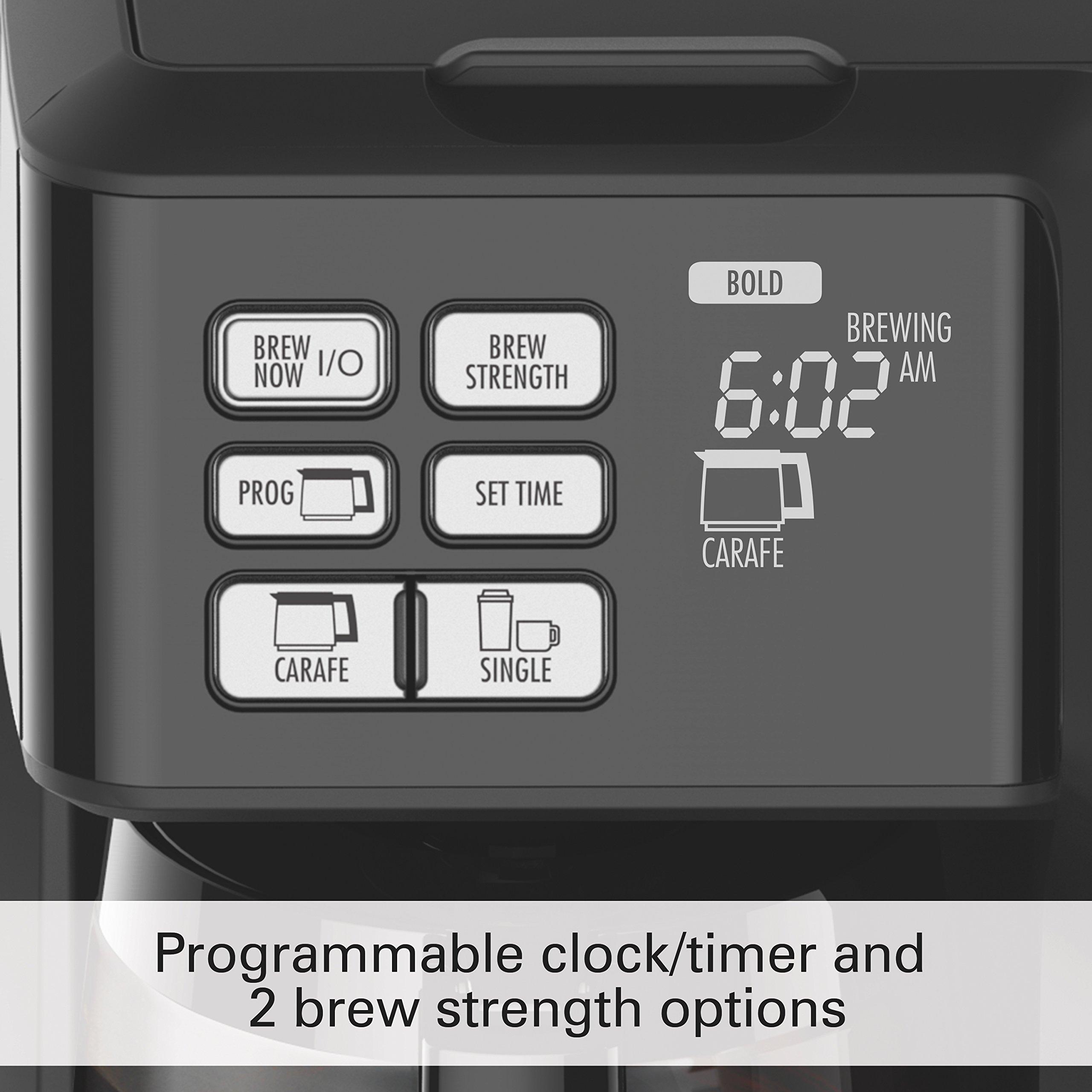 Hamilton Beach 49950C Flexbrew 2-Way Brewer Programmable Coffee Maker, Black by Hamilton Beach (Image #4)