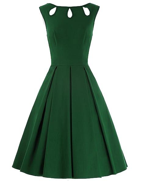 GK Vintage Dress - Vestido - Noche - Sin Mangas - para Mujer: Amazon.es: Ropa y accesorios